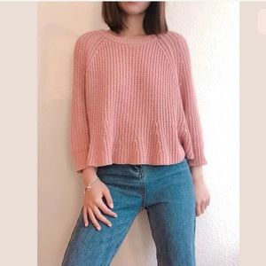 Madewell blush pink Flare Sweater